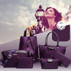 2018 6 PCS Set Women Noble Shoulder Bags Handbag Totes Messenger Leather Purse B