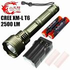 SMALL SUN High Power CREE XML T6 LED 2500 Lumen TACTICAL POLICE FLASHLIGH TORCH