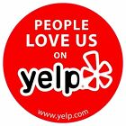 YELP LOGO STICKER DECAL VINYL BUSINESS SIGN PEOPLE LOVE US ON YELP