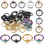 10/lot Bead Ring Ball Hoop Eyebrow Nipple Nose Lip Earring Body Piercing Jewelry