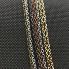 Внешний вид - 32ft(10M) Oval Links 2x3mm Crafting Soldered Chains, 8 Color, Silver Gold Bronze