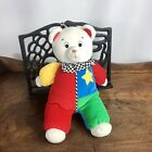 "Eden Musical Wind Up Clown Bear Plush ""You Are My Sunshine"" Toy Vintage Star Red"