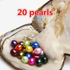 20pcs Individual Wrapped Akoya Oyster With Natural Round Pearls Rainbow Skittle