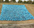 Ocean Blue Camouflage Net Camo  Paintball Concealment Car Covers Tent Shade