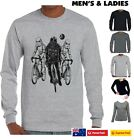 Funny Star wars T-Shirts Darth Vader cycling storm troopers bicycle Size tshirt $23.21 AUD on eBay
