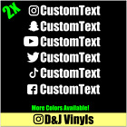 2x INSTAGRAM Custom Text Vinyl Decal Window Euro Drift JDM Sticker