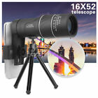 16X52 Zoom Phone Camera Lens Telescope Monocular+Clip+Tripod For Mobile Phones