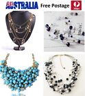 Designer Jewellery Woman Multi-chain Necklace With Crystal / Stone Jn50