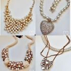 Gold Plt Designer Jewelry Woman Luxury Party Bridal Pearl Choker Necklace Jn92