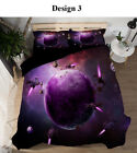 Novelty Universe Earth planets bedding set quilt duvet Cover+pillowcase US size