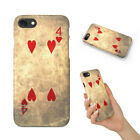 FOUR 4 OF HEARTS PLAYING CARDS HARD PHONE CASE COVER FOR APPLE IPHONE