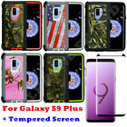 For Samsung Galaxy S9 Plus+ Camo Case Belt Clip Fits Otterbox Defender W/Screen