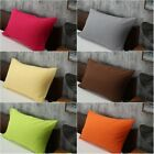 Solid Color Cotton Bed Pillowcases Bedding Pillow Case Cover Standard Queen Size image
