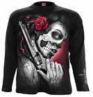 Spiral Direct DEATH PISTOL Long sleeve/Goth/Mexican/Sugar Skull/Rock/Gun/Tee/Top
