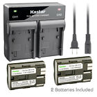 Kastar Battery Dual Fast Charger for Canon BP-511A BP-514 CG-580 CB-5L BG-E2N