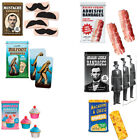 Novelty Bandages (Choose Your Style) Mustache Bacon Band-Aids Adhesive Funny