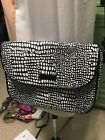 Bera Bradley Over Shoulder Purse Black White Patterned