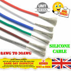 Flexible Silicone Cable Wire 8/10/12/14/16/18/20/22/24/28/30 AWG Various Colours