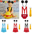 boy birthday outfits for babies - Birthday Cake Smash Suspenders Outfits Mickey Mouse Costume for Toddler Baby Boy