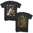 Stevie Ray Vaughan & Double Trouble LIVE ALIVE Tour 1986 Men's T Shirt Rock Band