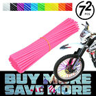 72x Universal Wheel Spoke Wraps Motorcycle Cover Pipe Skins For Kawasaki Suzuki
