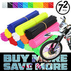 72x Universal Wheel Spoke Wraps Motorcycle Cover Pipe Skins Dirt Bike Protector $8.95 USD on eBay