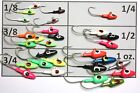 DARTER OR BULLET JIGS Jig Heads LURES LOT CHOICE SIZE AND COLOR PACKS
