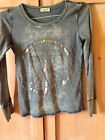 Anthropologie Fee People one world gray cotton peace sign t shirt s