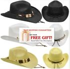 WESTERN Cowboy HAT  WHITE BLACK BEIGE MEN WOMEN HIGH QUALITY