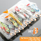 Fishing Lure Kit Wobbler Artificial Bait Lead Fish Plastics Road Soft Fish Bait