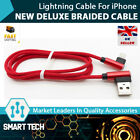 iPhone charger L shaped braided lightning cable iphone 5 5s 6 6s 7 8 X RED