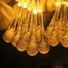 Water Ball Solar Led 4.5m String Drop Wedding Party Lights Outdoor Fairy 30 20