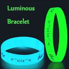1/5/10pcs Dark Rubber Bangle Luminous Wristband Silica Gel Silicone Bracelet