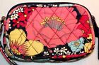 VERA BRADLY  SMALL ZIP WALLET 100% QUILTED COTTON MULTI-COLOR MINT! ROOMY!