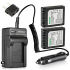 Kastar Battery Travel Charger for Panasonic CGA-S002 S002E & LEICA D-LUX Camera