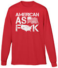 American As Flag F-Map-K Patriotic Pride USA Map Fourth 4th of July Mens LS Tee