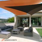 Brown Deluxe Right Triangle Sun Shade Sail Outdoor Canopy Patio Top Awning Lawn