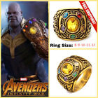 Thanos Infinity Ring Gauntlet Power War Avengers Cosplay Jewelry Stone US 8 -12