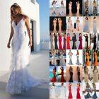 Women Bridesmaid Chiffon Dress Long Evening Party Formal Wedding Ball Prom Gown