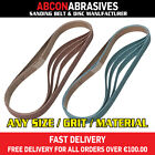 30 x Abrasive File Belts 6x457 / 6x456mm 1/4x18'' (P36-P500)  Made in Ireland