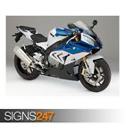BMW S1000RR BLUE (AE178) - Photo Picture Poster Print Art A0 A1 A2 A3 A4