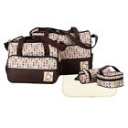 5Pcs Polka Dots Baby Nappy Changing Hospital Diaper Bags Travel Bottle Holder