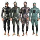 Neoprene 3mm Winter Camo Wetsuit Two Piece Hooded Spearfishing Diving Suit