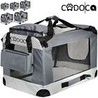 CADOCA® Hundetransportbox faltbar Katzentransportbox Transportbox Autobox Box