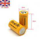 2x 1200mAh 18350 Battery 3.7V Li-ion Rechargeable Unprotected Flat Top UK SELL