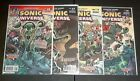 SONIC UNIVERSE, ARCHIE COMICS, ISSUES #46-#49, SIGNED BY MATT HERMS, NEAR MINT.