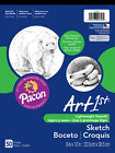"""Sketch Pad Drawing Paper Heavyweight Pad Multipurpose 9"""" x 12"""" White 50 Sheets"""