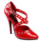 Domina-417 Red Patent Pleaser Shoes
