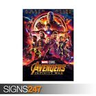 MARVEL AVENGERS INFINITY WAR (ZZ008)  MOVIE POSTER - Poster Print Art A1 A2 A3
