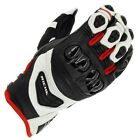 Richa Stealth CE Cerified Sports Motorcycle Leather Gloves - Black/White/Red